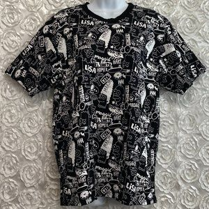 The Simpson | Black + White All Over Graphic Shirt